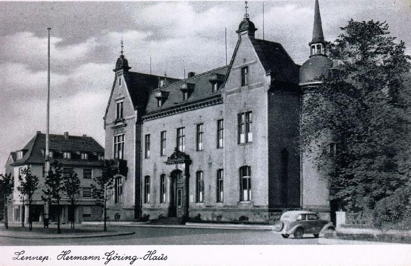 Das Kreishaus in Lennep in den 1930er Jahren. Lenneparchiv Schmidt.