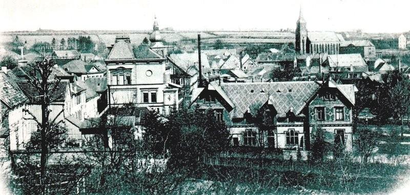Von der heutigen Rotdornallee abwärts bis zur Wupperstraße zog sich das Areal der Familie Hermann Hardt sen. mit seinen zahlreichen Gebäuden. Lenneparchiv Schmidt.