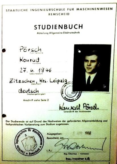 Zeitgenössisches Studienbuch, Quelle und Repro privat