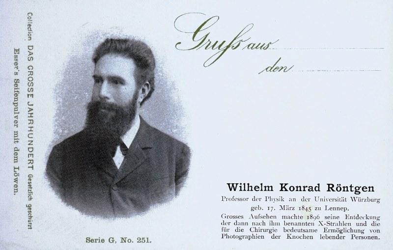 Abb. 3 Röntgenpostkarte aus dem Jahre 1900. Lenneparchiv Schmidt